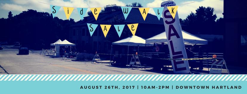 Sidewalk Sale | Aug 3rd | 10am-2pm | Downtown Hartland