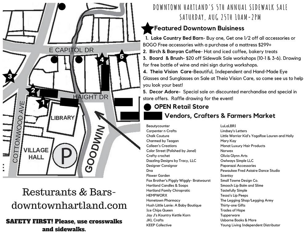 Sidewalk Sale 2018 Map