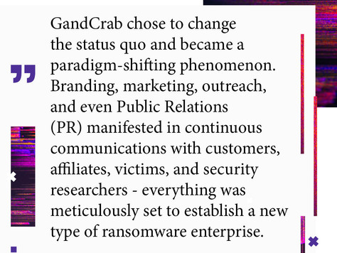 "Digital ""Pharmacusa"": The Paradigm Shifter: How GandCrab Legacy Revolutionized Ransomware"