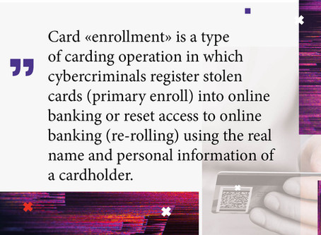 Card Enrollment Services: Highly Effective Fraud Methodology Offered in Russian Underground