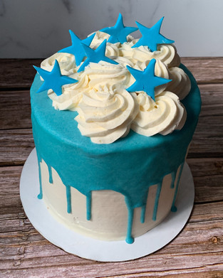 Star drip cake