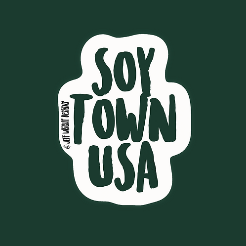 Soy Town USA -Sticker