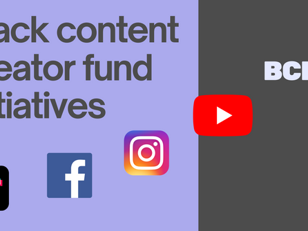 Black content creator fund initiatives