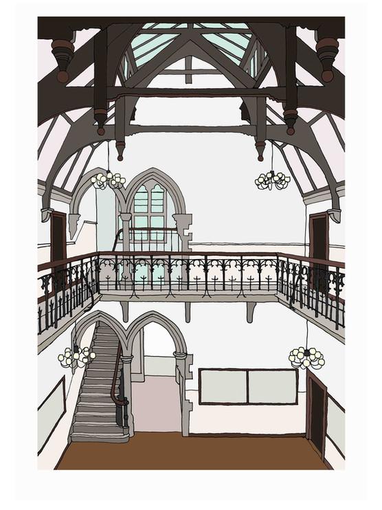 Interior, Highgate School, Central Hall, N6