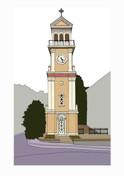 Clocktower, Theotokos Koimisis Church, Metaxata, Kefalonia, Greece