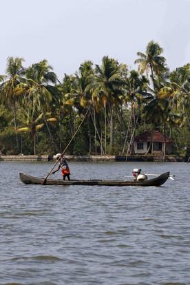 Canoe, Backwaters, Kerala, India