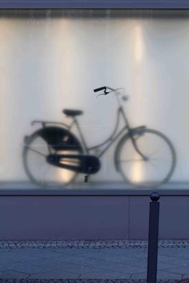 Bike in Window, Weinmeisterstraße, Berlin, Germany