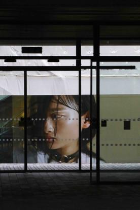 Advertising Hoarding, Foyer of Central St Martins, Kings Cross, London