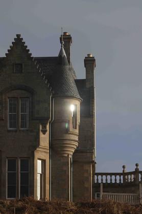 A Flash of Sunlight on GlenGorm Castle, Isle of Mull, Scotland
