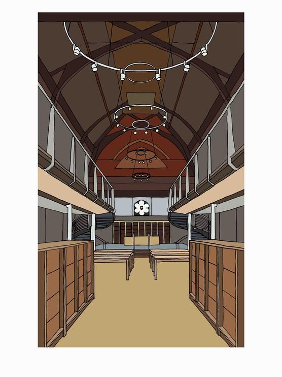 Interior, Highgate School, Big School: Library, N6