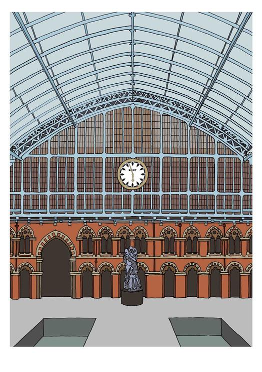 Interior, St Pancras International, N1C