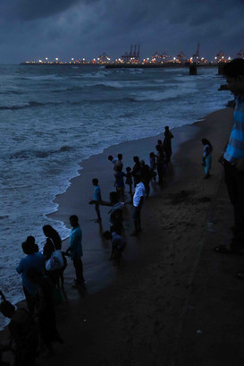 After the Sunset, The Beach at Galle Face Green, Colombo, Sri Lanka
