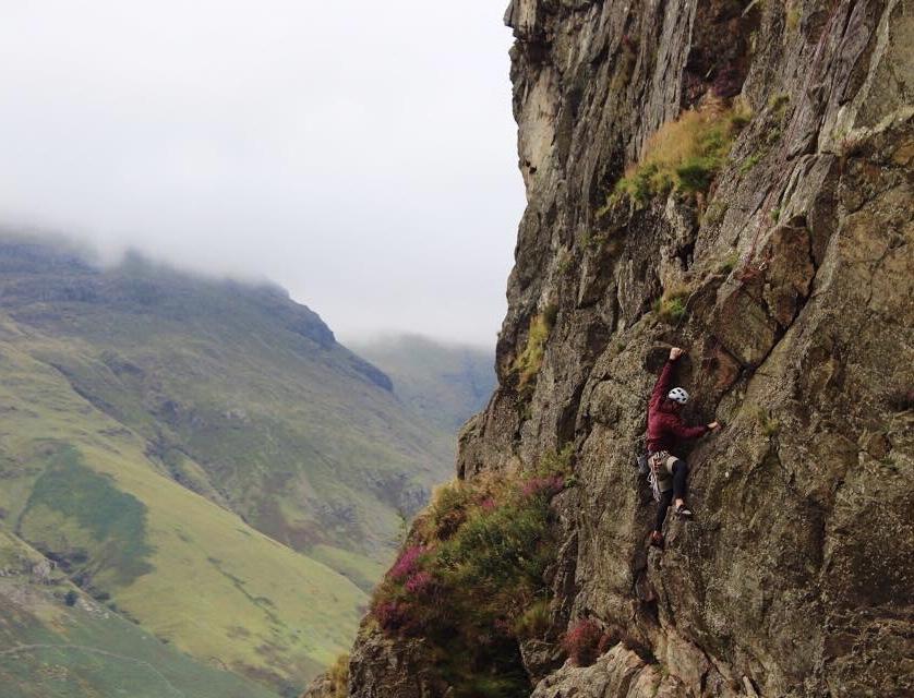 Coaching on Raven Crag Langdale