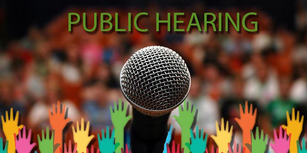 Fellowship Time Use Public Hearing