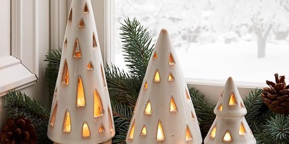 Holiday Clay Play / Keepsake Holiday Tree Lantern with Kimbo (1)