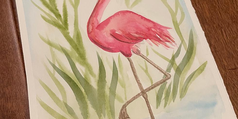 "WORKSHOP: ""Fun Flamingo"" Watercolor with Sally Balestrieri"
