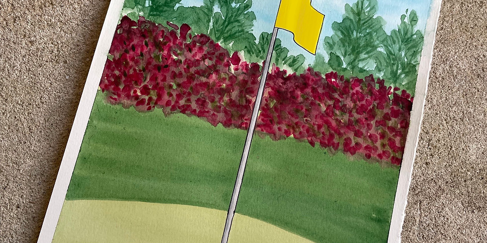 "WORKSHOP: ""Spring in Full Swing"" Golf Watercolor with Sally Balestrieri"