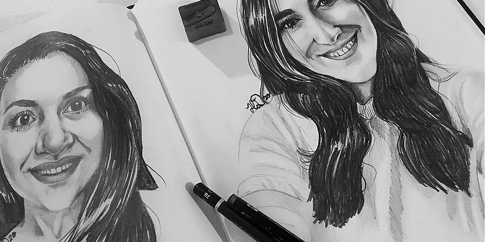 Adult / Teen - Portrait Drawing from Photographs