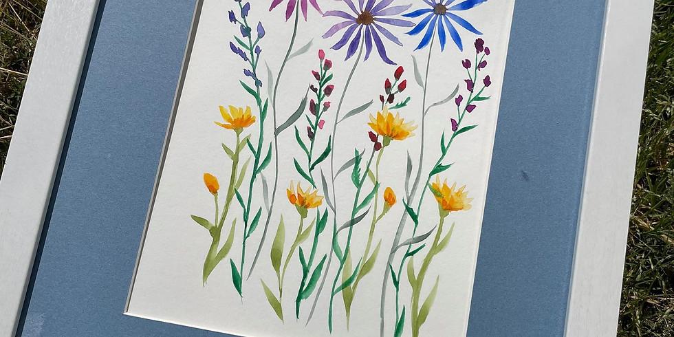 """WORKSHOP: """"Fun Flowers"""" Watercolor with Sally Balestrieri"""