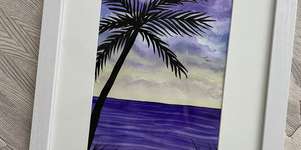 """WORKSHOP: """"Tropical Sunset"""" Watercolor with Sally Balestrieri"""