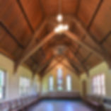 small church wood rafters