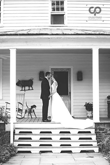 Front porch wedding