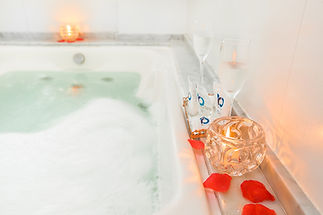 banheiro suite master, decoracao romanti