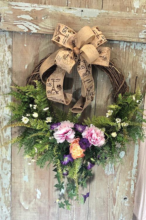 Summer Wreath Wedding Wreath Everyday Wreath