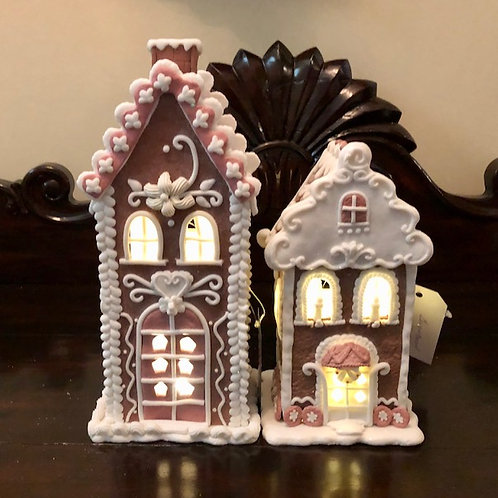 Lit Gingerbread Townhouse