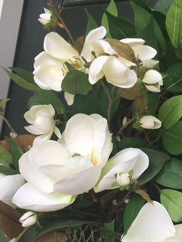 southern style magnolia wreath