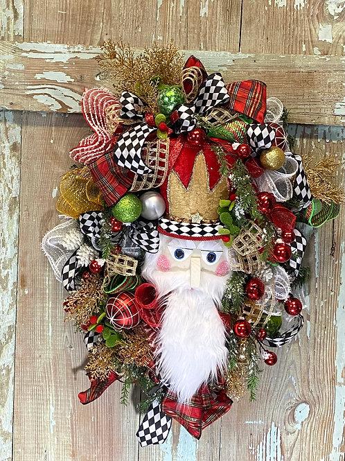 Nutcracker wreath, Christmas wreath, Nutcracker christmas