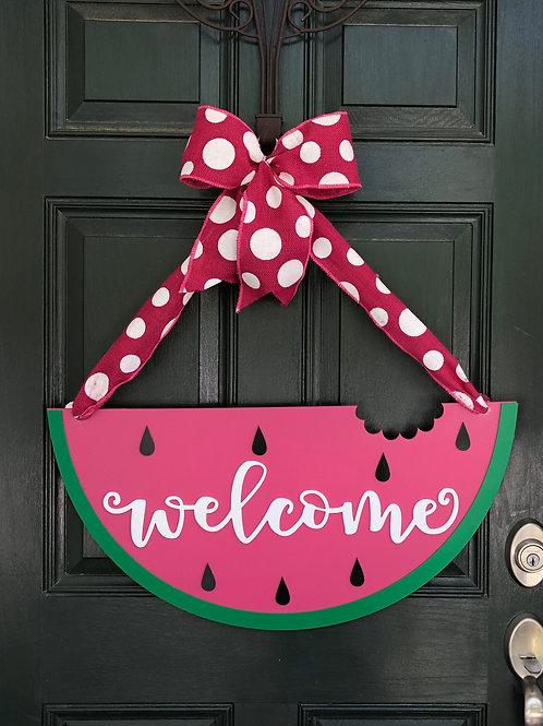 Watermelon Welcome Door Hanger