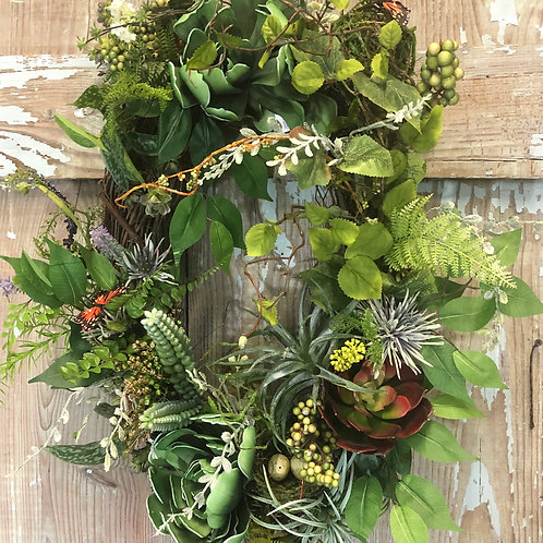 Succulent -Mother day Wreath - Everyday wreath