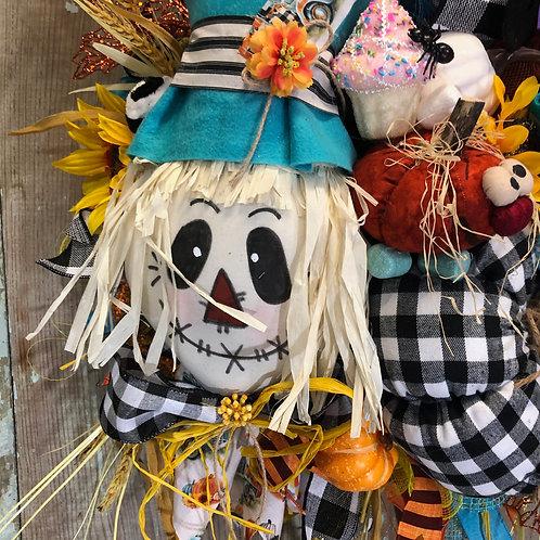 scarecrsow wreath