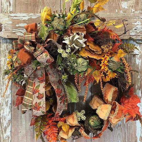 Fall wreath, Fall decor, Autumn wreath Autumn decor