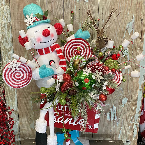 Letters to Santa Mailbox with Snowman, Snowman Mailbox, Christmas decor,