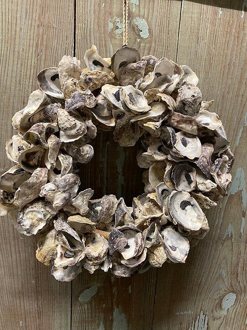 "14"" oyster shell wreath"