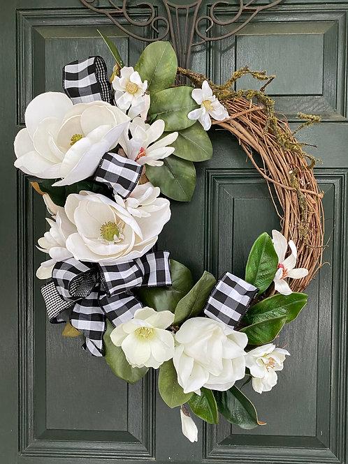 Magnolia wreath, Magnolia decor, Charleston Magnolia