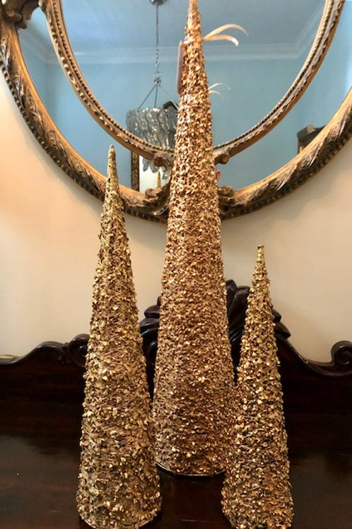 Gold Lace Holiday Trees