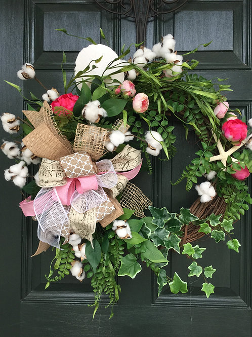 SPRING WREATH IN THE LOW COUNTRY