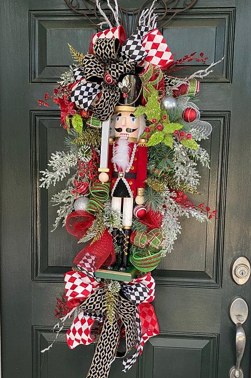 Nutcracker wreath, Christmas Nutcracker, Nutcracker Decor