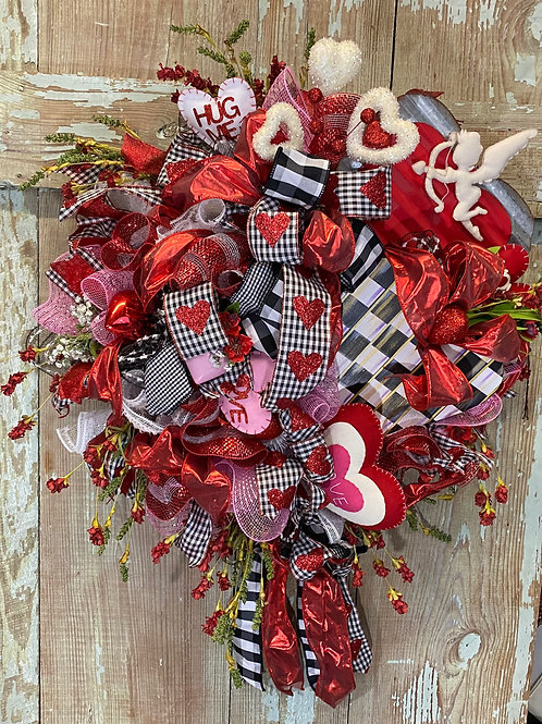 Love Wreath Valentine wreath, Valentine decor, Love, Cupid , Cupid wreath