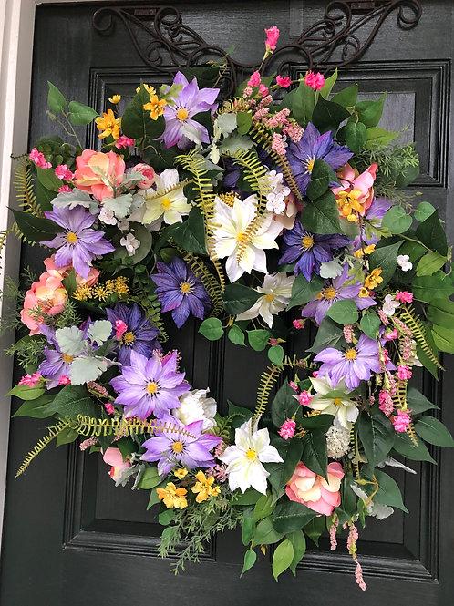 Spring in Charleston wreath