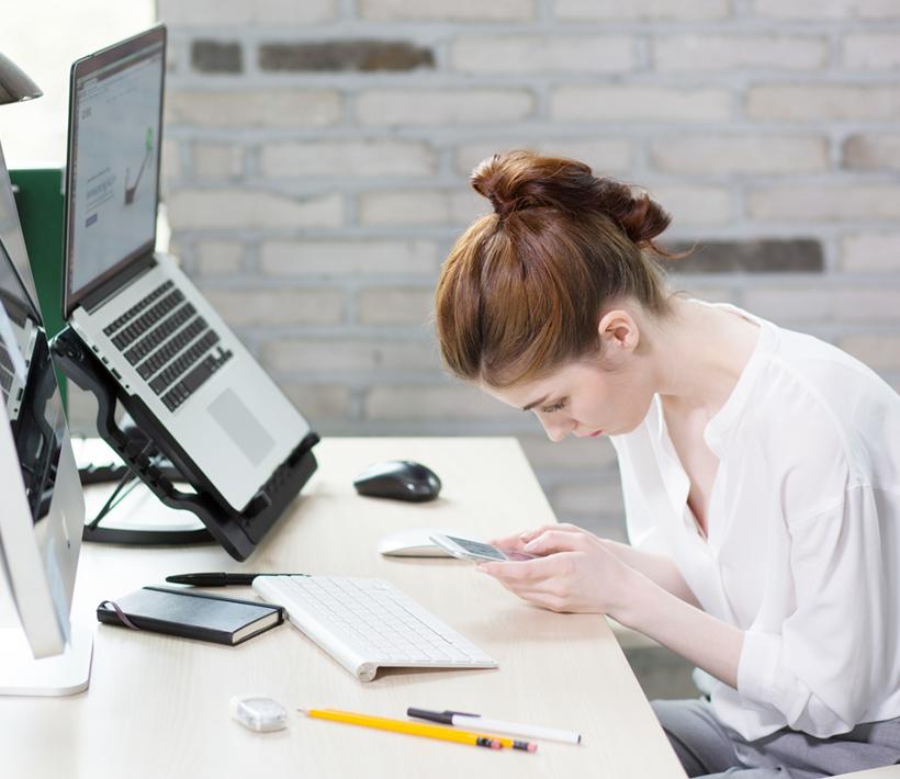 Bad posture at desk