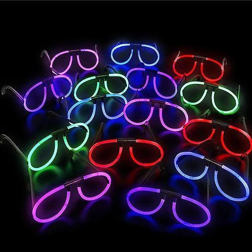 12 Lunettes glow assorties