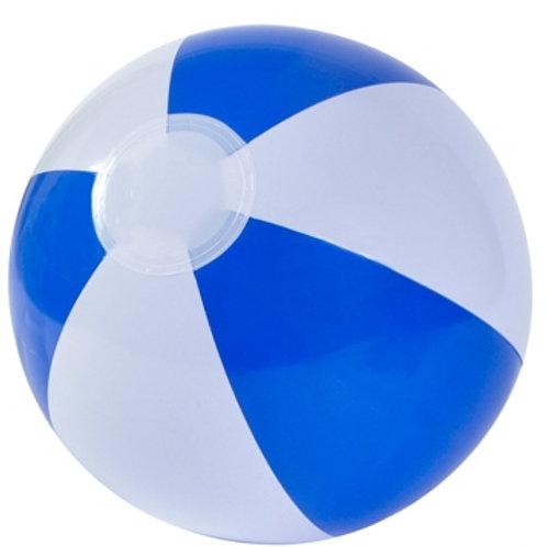 Ballon de plage bleu/blanc