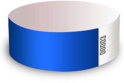Bracelets bleus (boite de 500)