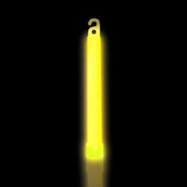 25 Bâtons lumineux 6'' jaune