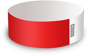 Bracelets tyvek rouge