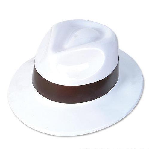 12 Chapeaux gangster blancs